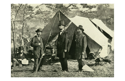 Pinkerton, Lincoln and McClernand Print