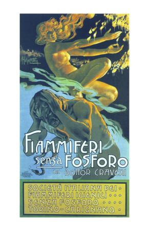 Fiammiferi Senza Fosforo Print by Adolfo Hohenstein