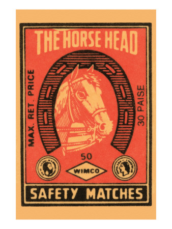 Horse Head Safety Matches Print