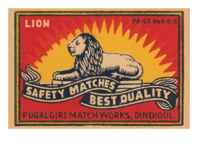 Lion Safety Matches Best Quality Poster