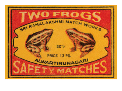 Two Frogs Safety Matches Posters