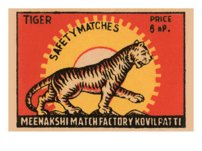 Tiger Safety Matches Art