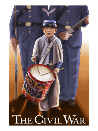 Americam Civil War - Drummer Boy Art by  Lantern Press