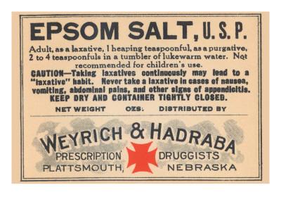 Epsom Salt, U.S.P. Prints