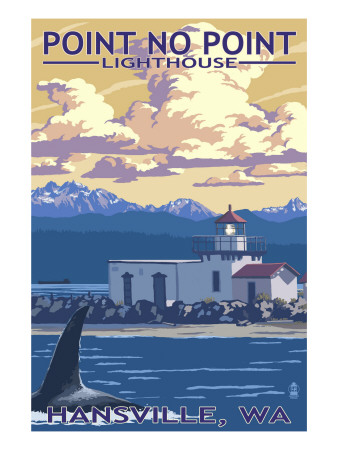 Point No Point Lighthouse - Hansville, WA Art Print