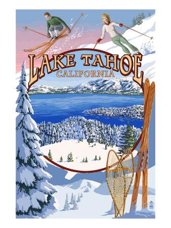 Lake Tahoe, CA Winter Views Posters by  Lantern Press