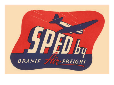 Sped By Branif Air Freight Posters