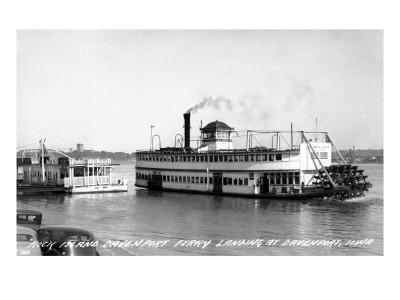 Davenport, Iowa - Rock Island-Davenport Ferry Landing Prints by  Lantern Press