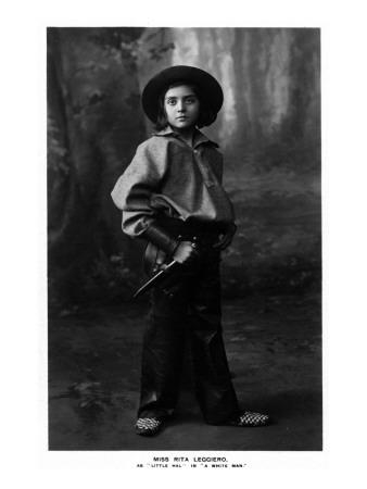 Cowgirl Portrait - Miss Rita Leggiero Holding a Knife Prints by  Lantern Press