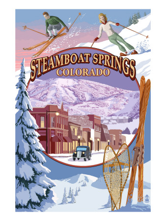Steamboat Springs, Colorado Montage Art Print