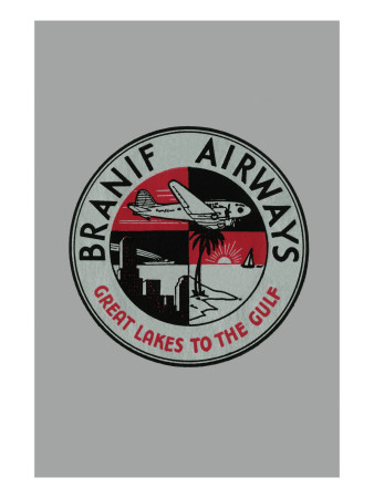 Branif Airways - Great Lakes To the Gulf Posters
