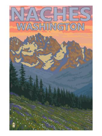 Naches, Washington - Spring Flowers Poster di  Lantern Press