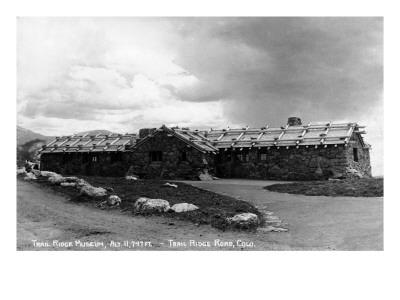 Colorado - Trail Ridge Museum Exterior Prints by  Lantern Press