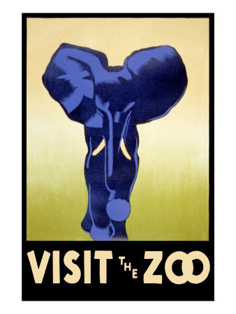 Visit the Zoo - Elephant Charging Poster by  Lantern Press