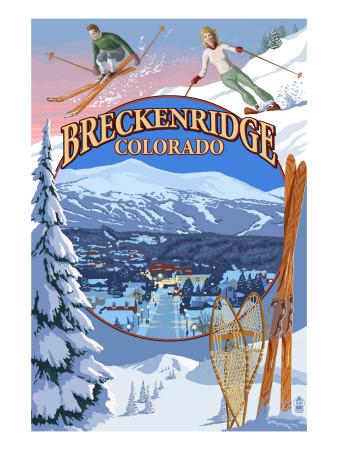 Breckenridge, Colorado Montage Art by  Lantern Press