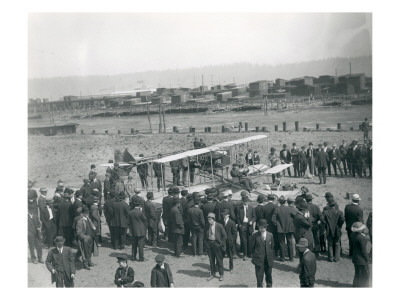 Harvey Crawford at Tacoma, 1912 Premium Giclee Print by Marvin Boland