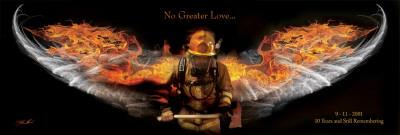 Fireman No Greater Love Posters by Jason Bullard