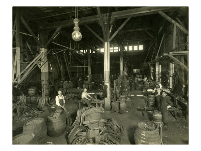 Rainier Brewing and Malting Co., Cooper Shop, 1914 reproduction procédé giclée