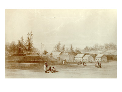 Fort Vancouver, 1845 Premium Giclee Print by Henry Warre