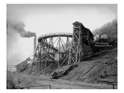 Topworks Franklin Mine, 1902 Premium Giclee Print by Asahel Curtis