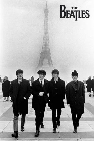 The Beatles in Paris Poster