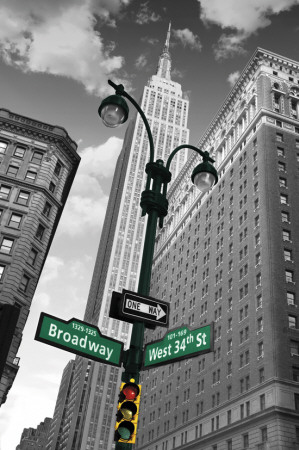 New York - Street Signs Poster