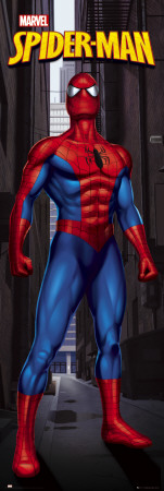 Spiderman - Standing Door Poster