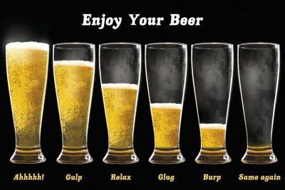 Enjoy Your Beer Affiche