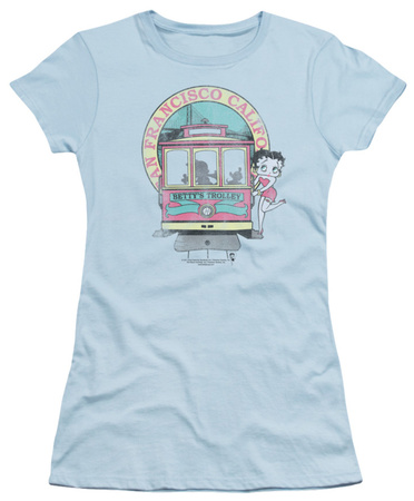 Juniors: Betty Boop - Betty's Trolley T-Shirt