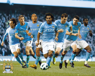 Manchester City - Players 2010/11 Mini Poster