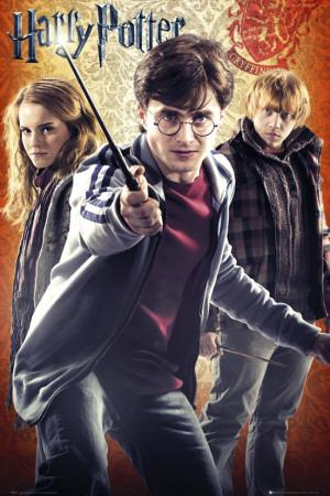 Harry Potter and the Deathly Hallows - Part II - Trio Kunstdrucke
