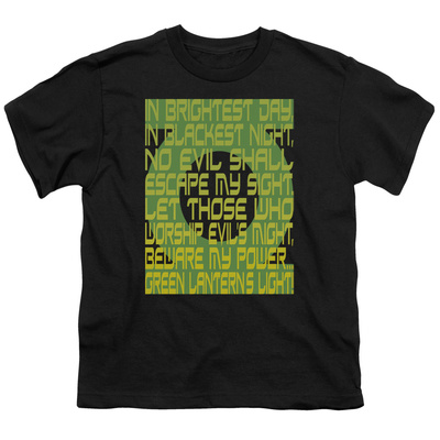 Youth: Green Lantern - Green Lantern Oath T-Shirt at AllPosters.