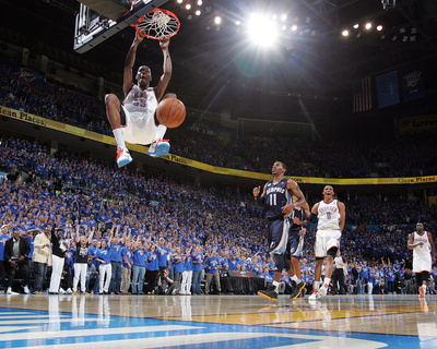 Memphis Grizzlies v Oklahoma City Thunder - Game Seven, Oklahoma City, OK - MAY 15 : Kevin Durant Photo by Layne Murdoch