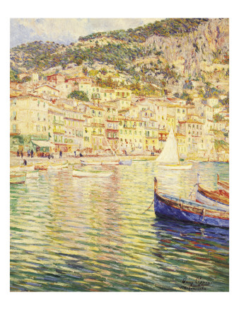 Villefranche on the French Riviera Gicléetryck av Omer Coppens