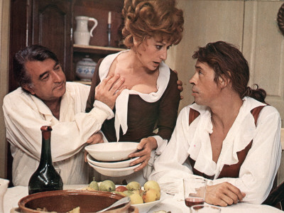 Jacques Brel, Armand Mestral and Rosy Varte: Mon Oncle Benjamin, 1969 Photographic Print by Marcel Dole