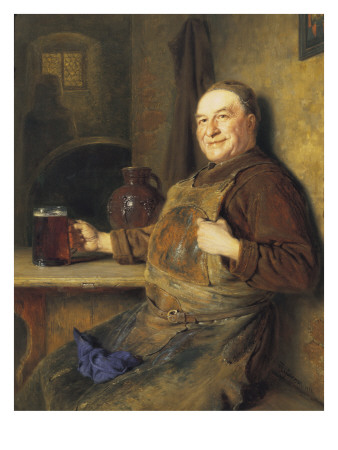 The Brewmaster's Break Giclee Print by Eduard Von Grutzner