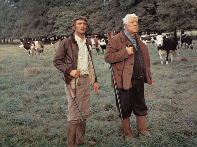 Jean Gabin and Michel Barbey: La Horse, 1970 Photographic Print by Marcel Dole