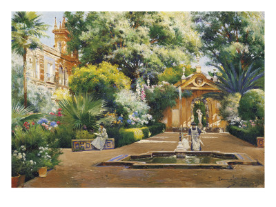 A Garden in Seville reproduction procédé giclée