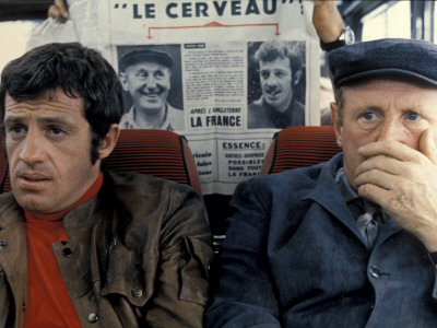 Jean-Paul Belmondo and Bourvil: Le Cerveau, 1969 Photographic Print by Marcel Dole