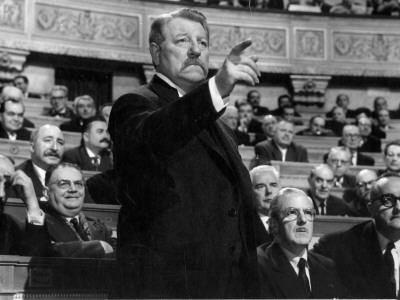 Jean Gabin: Le Président, 1961 Photographic Print by Marcel Dole