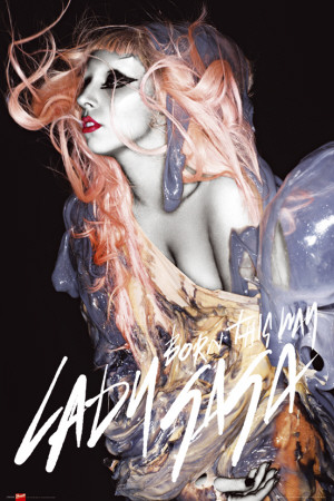 Lady Gaga - Grunge Orange Hair Poster
