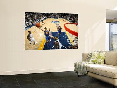 Golden State Warriors v Memphis Grizzlies: Stephen Curry and Zach Randolph Wall Mural by Joe Murphy