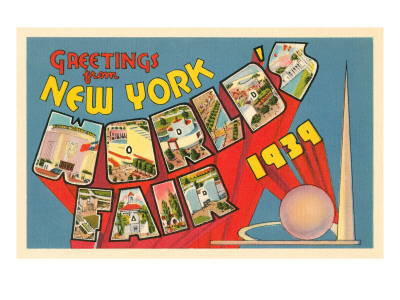 Greetings from New York World's Fair, 1939 Pósters