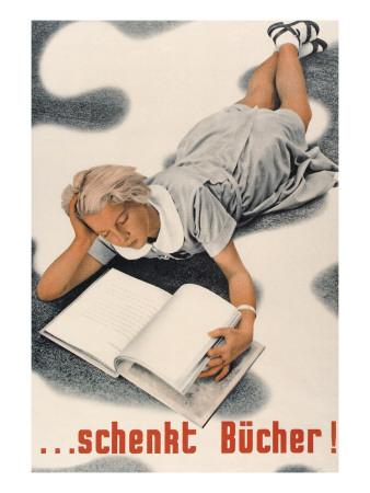 Give Books, German Poster Poster