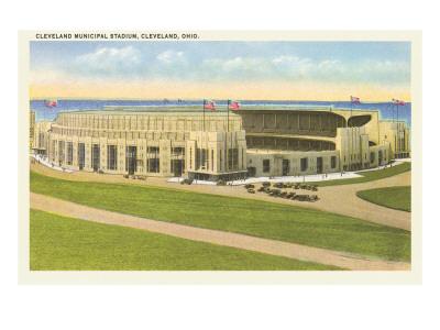 Municipal Stadium, Cleveland, Ohio Prints