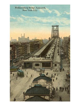 Willamsburg Bridge Approach, New York City Prints