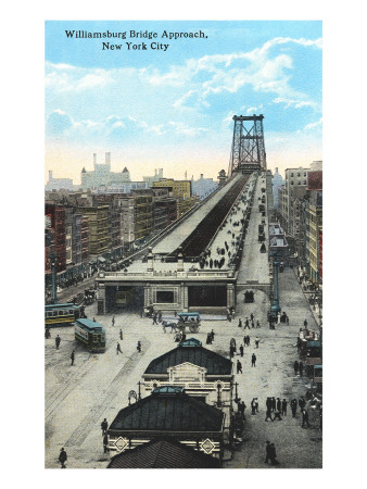 Williamsburg Bridge Approach, New York City Prints