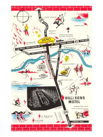Map of Reno Vicinity, Nevada Poster!