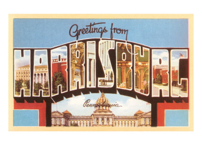 Greetngs from Harrisburg, Pennsylvania Prints