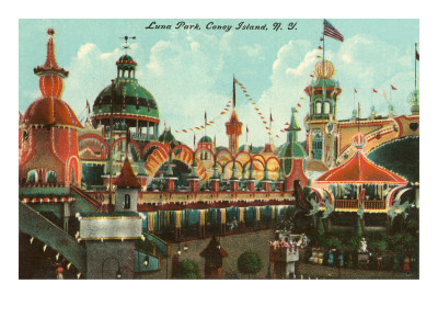 Luna Park, Coney Island,  New York City Premium Poster